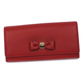 Mulberry マルベリー 長財布 長札 RL3927 BOW CONTINENTAL WALLET POPPY RED RED
