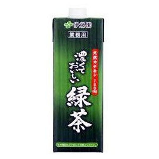 伊藤園 濃くておいしい 緑茶 業務用 1000ml 紙パック 6本セット
