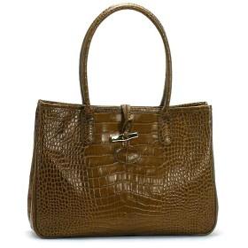 ロンシャン longchamp トートバッグ roseau style croco 2686 sac shopping noix br