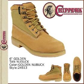 チペワ CHIPPEWA ワークブーツ ブライアー 24513 6INCH GOLDEN TAN BOOTS Wワイズ ヌバック メンズ