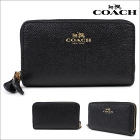 コーチ 財布 COACH 小銭入れ レディース ラウンドファスナー F57855 ブラック