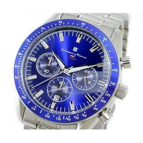 サルバトーレマーラ SALVATORE MARRA クオーツ メンズ クロノ  腕時計 SM13102-SSBL