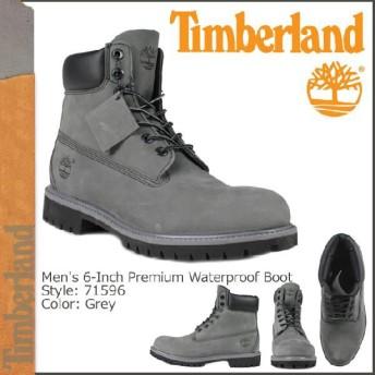 ティンバーランド Timberland 6インチ プレミアムウォータープルーフ ブーツ 6INCH PREMIUM WATERPROOF BOOT 71596 グレー レザー
