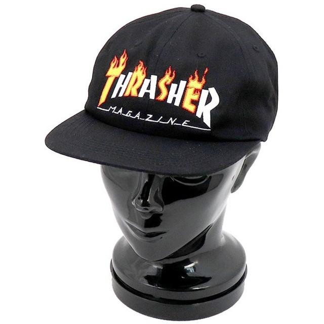 スラッシャー THRASHER FLAME MAG SNAPBACK キャップ 144575-BLACK