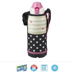 タイガー 直飲み水筒 ステンレス ボトル ポーチ付き ピンクドット 0.8L MBO-F080P 0737