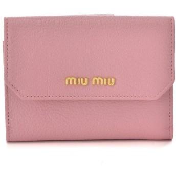 ミュウミュウ MIU MIU 財布 サイフ さいふ 二つ折り財布 カーフスキン 5MH523 2EW8 028