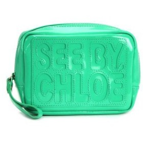 see by chloe シーバイクロエ zipped pouch zip file pvc 9p7020
