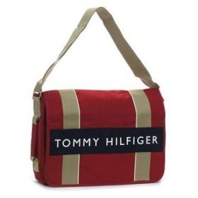 トミー・ヒルフィガー tommy hilfiger ショルダーバッグ canvas - core colors l500082 messenger red / navy
