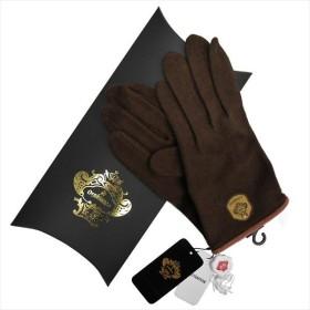 077c80bfa81a OROBIANCO オロビアンコ メンズ手袋 ORM-4102 Jersey glove カシミア ポリエステル他 DARKBROWN サイズ:23cm