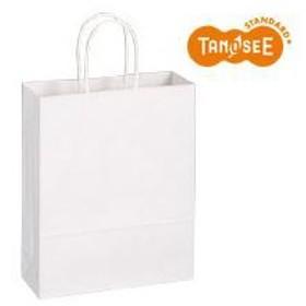 (まとめ)TANOSEE 手提袋 丸紐 白無地・小 50枚入×6パック