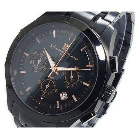 サルバトーレマーラ  SALVATORE MARRA クオーツ メンズ クロノ 腕時計 SM12120-IPBKPG