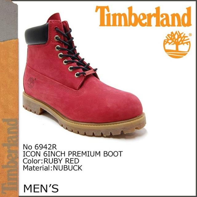 ティンバーランド Timberland アイコン 6インチ プレミアム ブーツ ICON 6INCH PREMIUM BOOT ヌバック 6942R ルビーレッド
