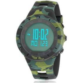 5b1978a270 OHSEN 腕時計 メンズ シンプル ミリタリー スポーツ 防水 デジタル LED 日付曜日 アラーム シリコン グリーン