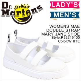 ドクターマーチン Dr.Martens シューズ レディース メンズ ストラップ WOMENS MAE DOUBLE STRAP MARY JANE SHOE R22219100 ホワイト
