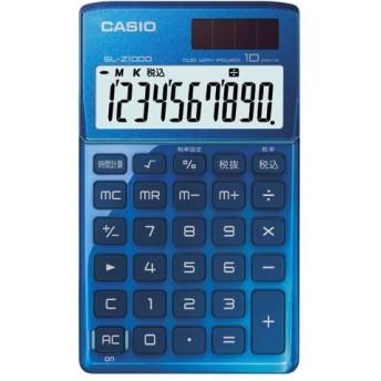 カシオ(CASIO) 電卓 10桁 SL-Z1000-BU-N ブルー 1台