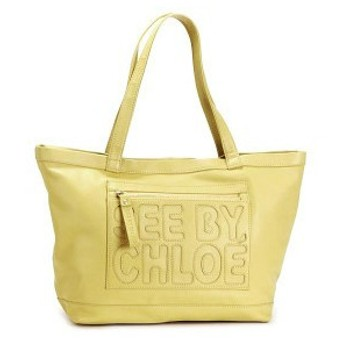 see by chloe シーバイクロエ zip file leather medium tote 9s7516