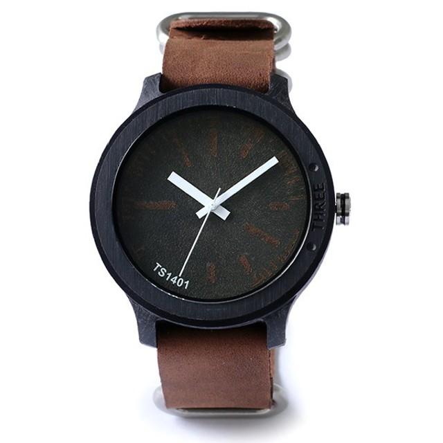 タックス TACS NATURE-L 腕時計 時計 TS1401A ブラック×ブラウン