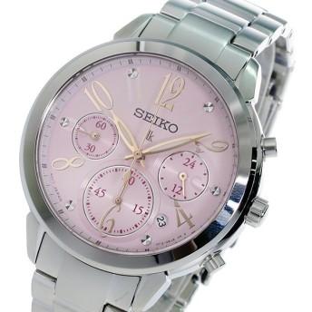 セイコー SEIKO クロノ ルキア クオーツ レディース 腕時計 SRW829P1 ピンク