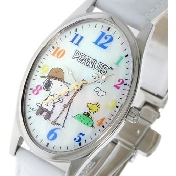 スヌーピー SNOOPY Watch スヌーピー&ウッドストック レディース 腕時計 SP-1027B ホワイトシェル