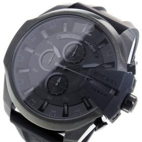 ディーゼル DIESEL メガチーフ クロノ クオーツ メンズ 腕時計 DZ4378 ブラック