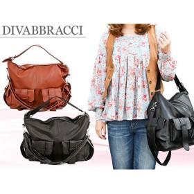 ディーバブラッチ DIVABBRACCI ショルダーバッグ A-11-12 ダークブラウン