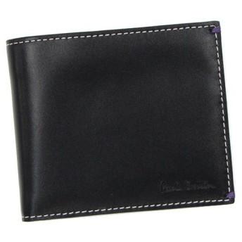ポールスミス paul smith 二つ折り財布 小銭入 w513 ahxa1033 men wallet billfold coin black bk