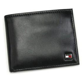 トミーヒルフィガー tommy hilfiger 二つ折り財布 小銭入 oxford nappa 0091-5042/01 global wallet w/coin black bk