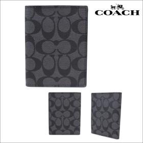コーチ パスポートケース COACH パスポートカバー F93518 チャコール×ブラック レディース