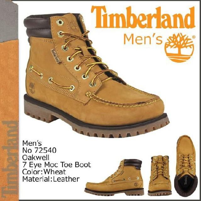 73b6bbf7dd41 ティンバーランド Timberland オークウェル 7アイ モックトゥ ブーツ ウィート 72540 Oakwell 7Eye Moc Toe メンズ