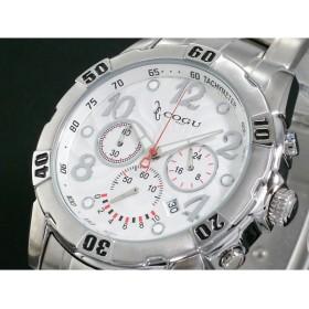 COGU コグ 腕時計 1/20秒クロノグラフ DC104-WH