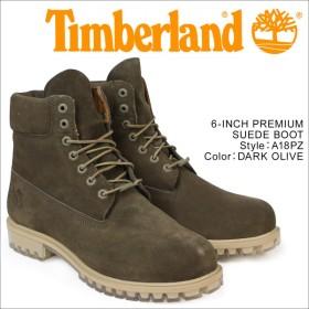 ティンバーランド ブーツ メンズ 6インチ Timberland 6INCH PREMIUM SUEDE BOOT A18PZ Wワイズ 防水 ダークオリーブ