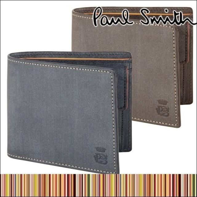 370c582dd4fe ポールスミス PaulSmith メンズ 二つ折り 財布 ロウ コレクション ブランド