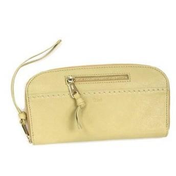クロエ chloe 長財布 長札 angie 3p0460 long zipped wallet stem ginger bk/be