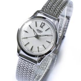 ヘンリーロンドン HENRY LONDON エッジウェア 25mm メッシュ レディース 腕時計 HL25-M-0013 ホワイト/シルバー