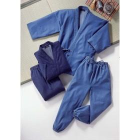 デニム作務衣2枚組 40096