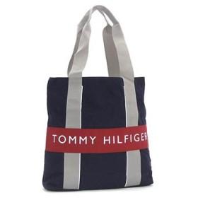 トミーヒルフィガー tommy hilfiger トートバッグ harbour point  l500137 navy/red