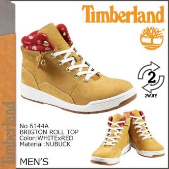 ティンバーランド Timberland ブリッジトン ロールトップ ブーツ BRIDGTON ROLL TOP ヌバック 6144A ウィート×レッド