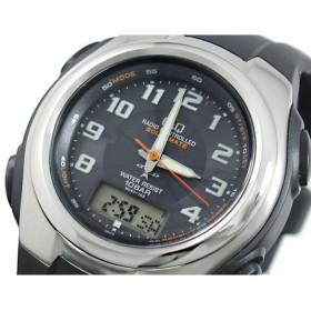 シチズン製 Q&Q 電波 ソーラー 腕時計 メンズ MCS3-102