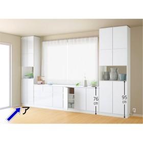 テレビ台の高さが選べて配線も隠せる壁面収納 奥行34cmタイプ 飾り棚 幅58高さ180cm WAX011