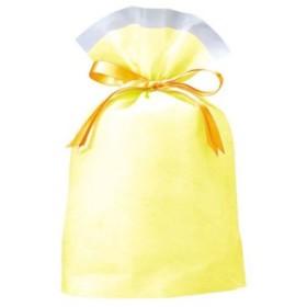(まとめ買い)包むファクトリー 巾着BAG シンシア イエロー M×14セット