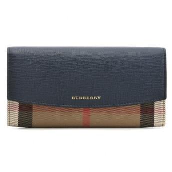 バーバリー BURBERRY 財布 サイフ さいふ 二つ折り長財布 キャンバス×カーフスキン 3992894