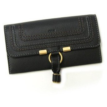 クロエ chloe 長財布 長札 marcie 3p0573 square zipped wallet black bk