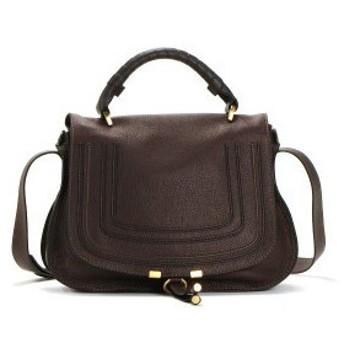 クロエ chloe バッグ 斜めがけ 3s0917 medium handbag with strap coffee shot br/db
