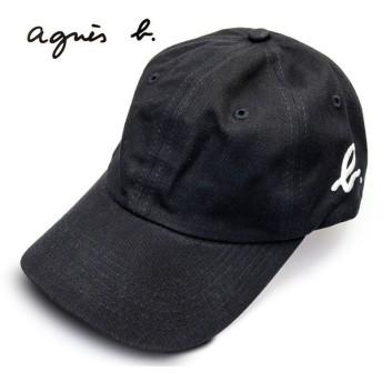 アニエスベー キャップ 黒 ベースボールキャップ agnes b. ロゴ刺繍 ブランド 帽子 メンズ レディース 正規品 新品 2572-K032