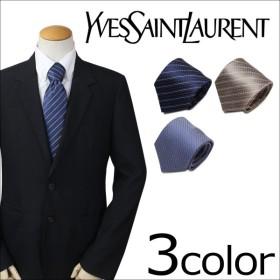 イブサンローラン ネクタイ シルク メンズ Yves Saint Laurent ギフト ケース付 フランス製 ビジネス 結婚式 メンズ