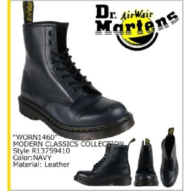 ドクター マーチン Dr.Martens 8ホールブーツ Dワイズ1460 8EYE ネイビー メンズ