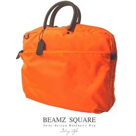 ビームズスクエア BEAMZSQUARE メンズ 3Way ブリーフケース BZSQ-735OR オレンジ