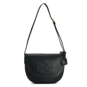 ロエベ loewe バッグ 斜めがけ 377.79l752 large heritage satchel black bk