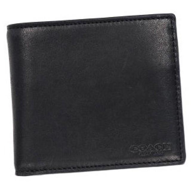 1571a84cbd48 コーチ coach 二つ折り財布 小銭入 74895 sport calf cain wallet black ...