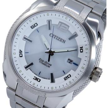 シチズン CITIZEN エコドライブ ソーラー メンズ 腕時計 BM6901-55B ホワイト